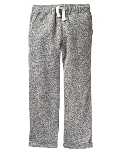 Crazy 8 Little Boys' Drawstring Knit Pant, Light Heather Grey, M Boys Knit Pants