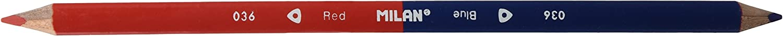 Milan BWM10294 - Blíster con 2 lápices bicolores, color azul y rojo