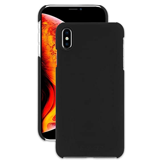 Amazon Brand - EMERGE - iPhone Xs Slim Case/iPhone X Slim Case - Slim Shell - Ultra Thin - Black