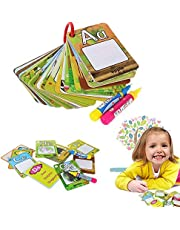 Non Toxic Baby Water Coloring Doodle Board Kids Early Education Magic Water Drawing Cards 26 Letters Alphabet Words Painting Game