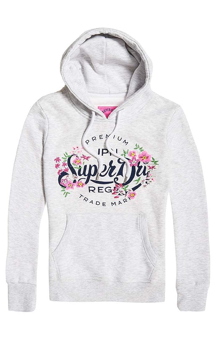 Superdry Premium Script Floral Entry Ho Sudadera para Mujer