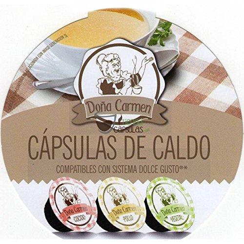 Cápsulas Dolce Gusto®** Origen & Sensations - Caldo Doña Carmen POLLO - 16 unidades: Amazon.es: Salud y cuidado personal