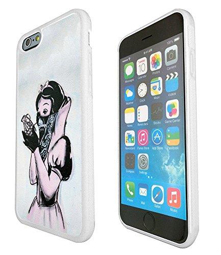 892 - Banksy Art Graffiti Snow White Design iphone 6 6S 4.7'' Fashion Trend Silikon Hülle Schutzhülle Schutzcase Gel Rubber Silicone Hülle - Weiß