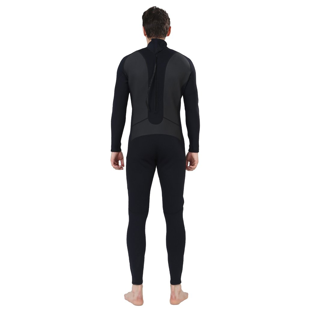Realon Wetsuit Men Full 2/3mm Surfing Suit Diving Snorkeling Swimming Jumpsuit (2/3mm Black, 3XL) by Realon (Image #4)