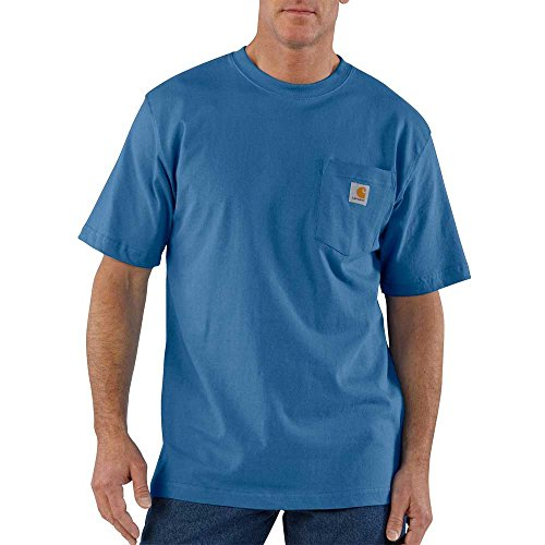 Carhartt Men's Big Workwear Pocket Short-Sleeve T-Shirt, Federal Blue, 2X-Large/Tall -