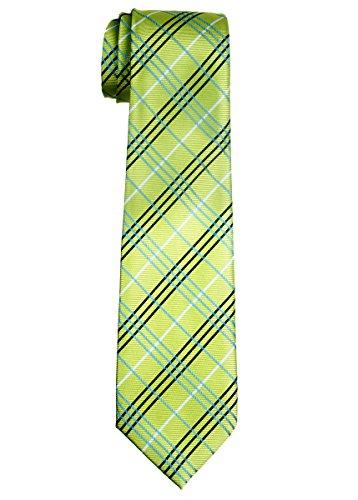 (Retreez Tartan Plaid Styles Woven Boy's Tie (8-10 years) - Green)