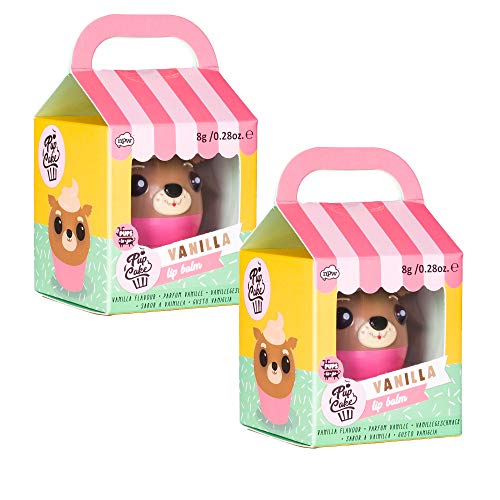 Pupcake Pups to Go Vanilla Scented 2 x 2 Shea Butter Moisturizing Lip Balm Pack of 2