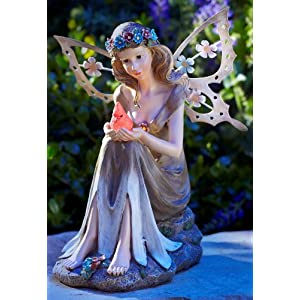 Moonrays-91351-Solar-Powered-Garden-Fairy-with-Glowing-Cardinal