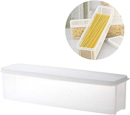 Contenitore per Alimenti per Cereali,3 Pezzi Alimenti con Airtight Coperchi per Pasta Scatola Contenitore per Spaghetti Scatola Stoccaggio Pasta per Conservazione Cereali,Farina dAvena,Noci,Fagioli