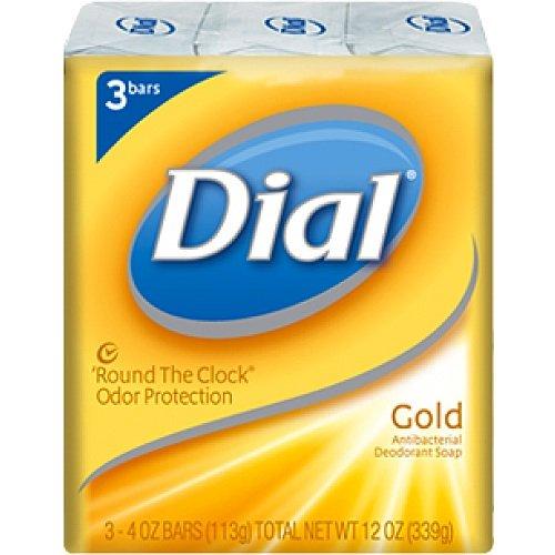 Gold Leaf Bar Soap - Dial Gold Bath Bar Soap 4 Oz. - 3 Bars