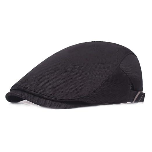 4ca3886d4 Leucos Ticte Men Breathable mesh Cap Summer hat Newsboy Berets ...