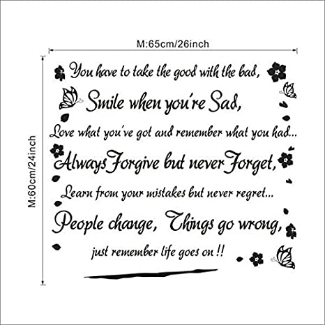buy new smile when you are sad inspirational quotes art decal
