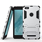 MOONCASE Xiaomi Mi 4i Case Detachable 2 in 1 Hybrid Armor Case Dual-Layer Shockproof Case Cover with Built-in Kickstand for Xiaomi Mi 4i M4i 4C Silver