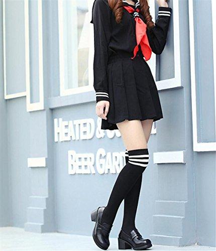 Ace Chock Kvinna Flickor Lolita Låga Topp Japanska Studenter Maid Enhetliga Finskor Oxford Skor Svarta
