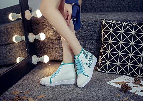 Lazutom Mujer Verde Zapatillas Zapatillas Para Lazutom Mujer Para 4wrY47x6q