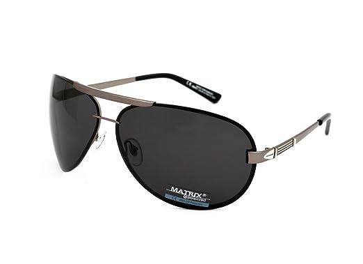 Matrix - Gafas de sol - para hombre plateado plata: Amazon ...