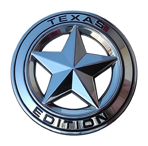 Nissan Titan Emblems - Muzzys Texas Edition Star CHROME and Black Round 3