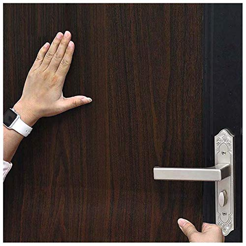 Expresso Grain - Wood Grain Contact Paper, H2MTOOL Faux Removable Peel and Stick Wallpaper Self Adhesive (17.7