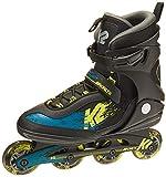K2 Skate Men's Kinetic 80 Inline Skate, Black Green Yellow, 9