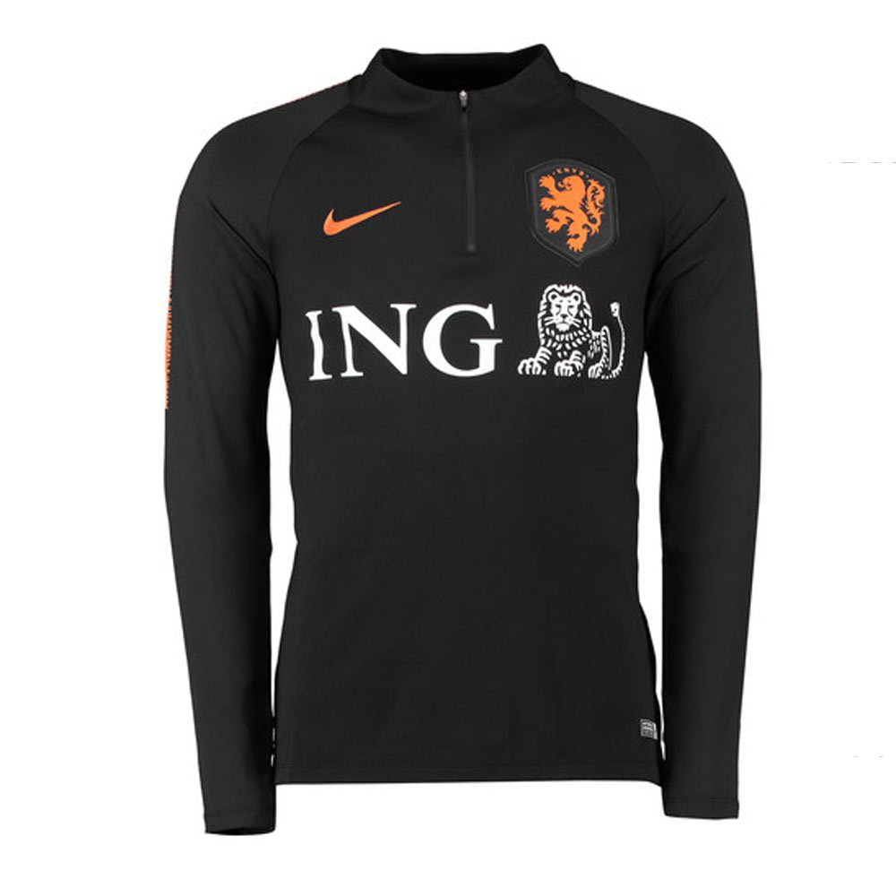 Nike Knvb Y Nk Dry Sqd Dril Top - schwarz schwarz safety orange safe