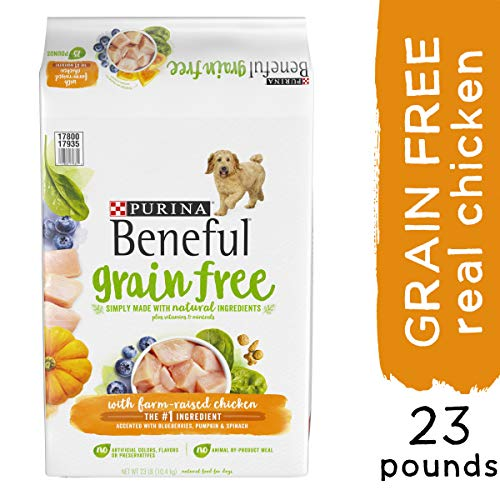 Purina Beneful Grain Free, Natural Dry Dog Food, Grain Free With Real Farm Raised Chicken – 23 lb. Bag