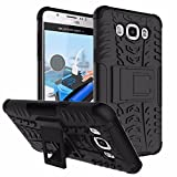 Aloin Defender Tough Hybird Armour Shockproof Hard PC + TPU With Kick Stand Rugged Back Case Cover For Samsung Galaxy A8 2015 - Black
