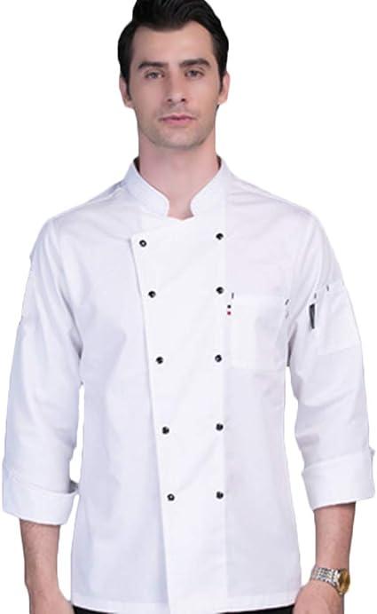 WYCDA Camisa de Cocinero Cocina Uniforme Manga Larga Colores ...