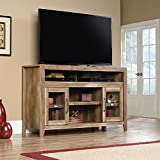 65 tv stand fireplace - Sauder Dakota Pass TV Stand in Craftsman Oak