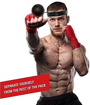 Boxing Reflex - Diadema de boxeo con cuerda y bola de tenis de boxeo para velocidad de