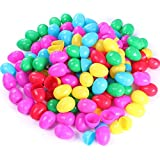 """NEWBEA 144 Pcs Plastic Easter Eggs Assortment-2.36"""" Bright Colors Easter Eggs for Filling Specific Treats Perfect for Easter Theme Party Favor, Easter Hunt, Basket Stuffers Fillers (144 pcs)"""