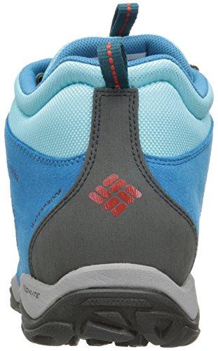 Columbia Fire Venture Mid Waterproof Damen Outdoor Fitnessschuhe Blau (ossido Blu / Piccante 473)