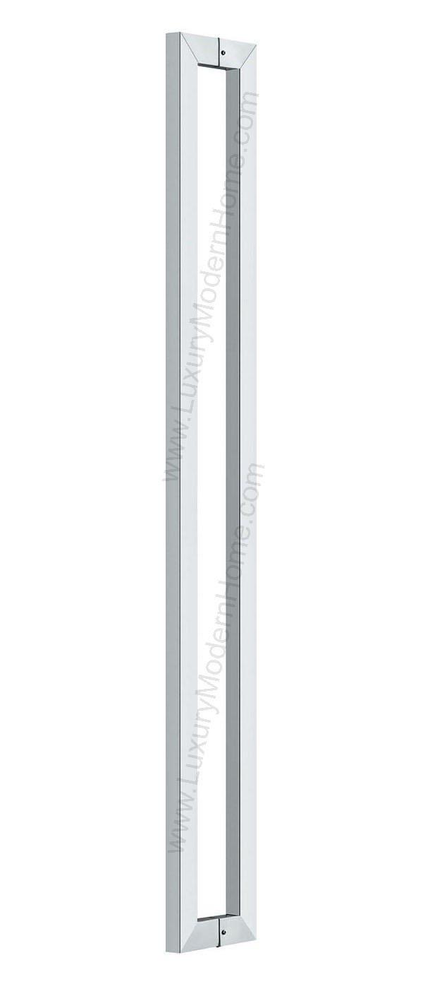 dh - 30'' Rectangular Tube Pull Shower Door Handle Square Stainless Steel 304