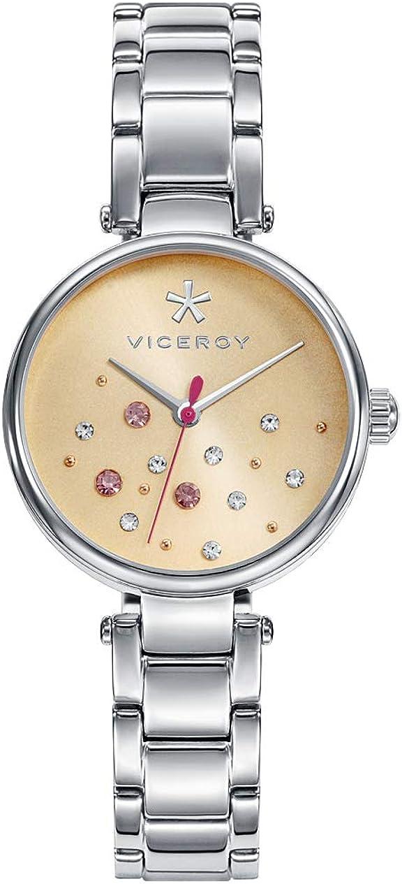 Viceroy Reloj Analogico para Mujer de Cuarzo con Correa en Acero Inoxidable 471116-99