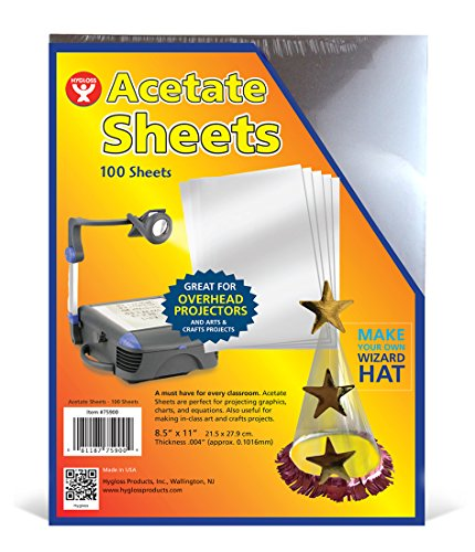 Hygloss Products Acetate Sheets for Projectors and for sale  Delivered anywhere in Canada
