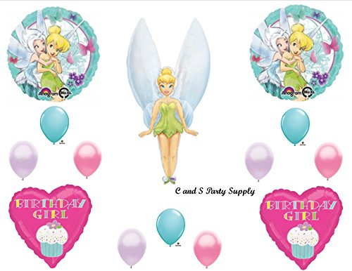 TINKERBELL & PERIWINKLE Birthday Disney Fairies BIRTHDAY PARTY Balloons Decorations Supplies by -