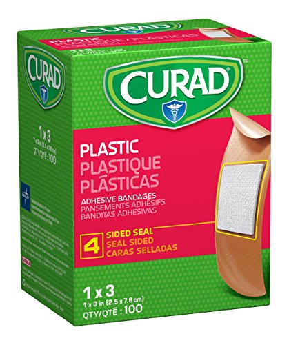 Curad Plastic Adhesive Bandages, 1 X 3 Inch, 100 Count (Packaging May vary) Adhesive Bandages