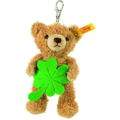 Steiff Key Ring - Steiff 111877 Lucky Charm Teddy Bear Plush Animal Toy, Golden Brown