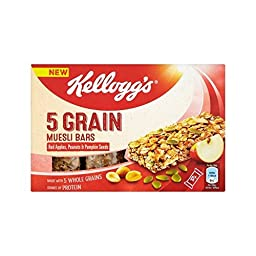 Kellogg\'s 5 Grain Muesli Red Apple, Peanut & Pumpkin Seed Bars 4 x 30g - Pack of 4