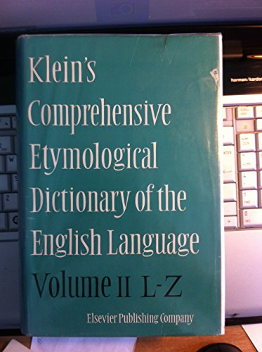 Comprehensive Etymological Dictionary of the English Language (v. 2) (A Comprehensive Etymological Dictionary Of The English Language)