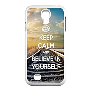 Samsung Galaxy S4 9500 Cell Phone Case White Be Yourself Plastic Phone protector XPDSUNTR33374