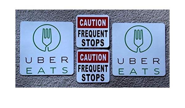 Amazon com: Sign 2 UBER EATS Magnetic CAR Vehicle 8 x 8 & 2 Caution