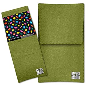 SIMON PIKE Cáscara Funda de móvil Sidney 13 verde ZTE Blade G Fieltro de lana