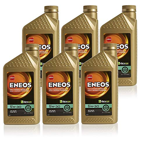 Eneos 5W-30 Fully Synthetic Motor Oil, 1 Quart (Pack of 6)