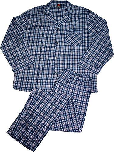 Hanes Men's Two Button Wasit Woven Pajamas with Button-Down ()