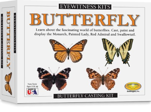 Skullduggery Eyewitness Kits Perfect Cast Butterfly Cast, Paint, Display and Learn Craft Kit (Skullduggery Eyewitness Kit)