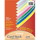 "Pacon Card Stock, Pastel and Bright Jumbo Assortment, 10 Colors,  8-1/2"" x 11"", 250 Sheets"