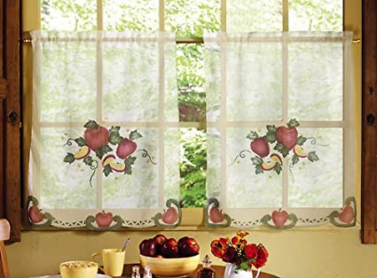 Apple Curtains For Kitchen Interesting Decorating