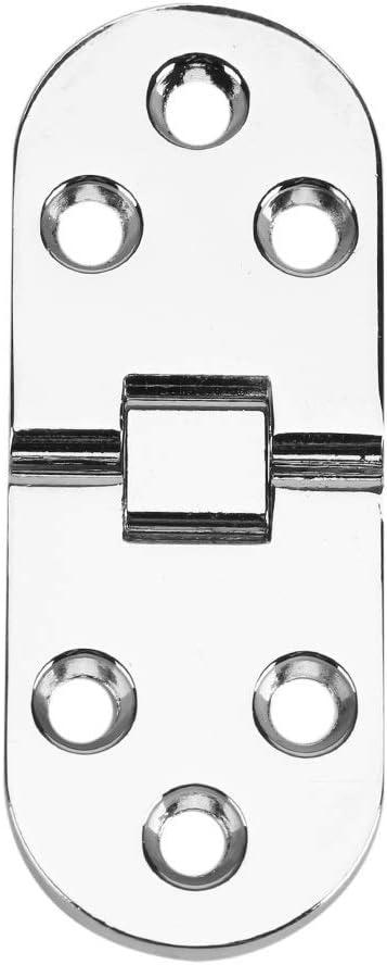 80 Aleaci/ón de zinc Aleta Bisagra Mesa plegable M/áquina de coser Mesa Plegable Flip Top Bisagra Lat/ón macizo Bandeja de mayordomo Bisagra Tapa de bisagra de solapa Muebles 30 mm Color : Oro