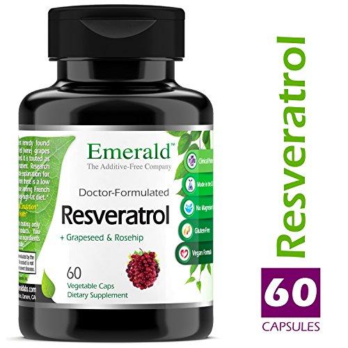 Resveratrol - 250 mg Hi-Potency - Helps Stimulate Heart Health, Promotes Good Circulation, & Improves Blood Sugar Health - Emerald Laboratories (Fruitrients) - 60 Vegetable Capsules