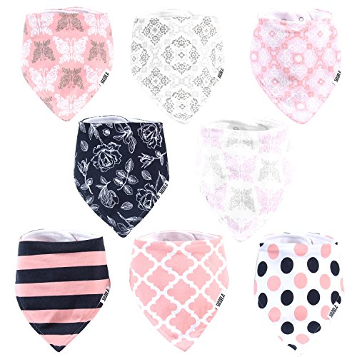 Stadela Baby Bandana Drool Bibs for Drooling and Teething 8 Pack Gift Set (French Roses)